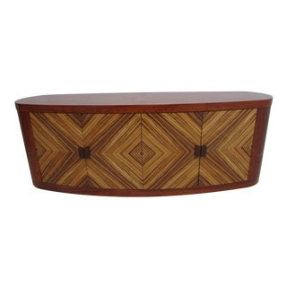 Custom Rosewood Zebrawood Art Deco Style Sideboard For Sale