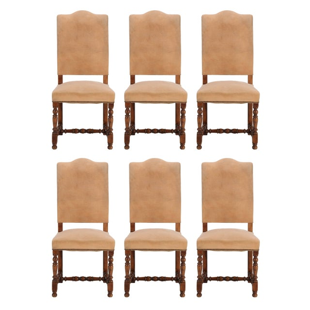 7c3df5a8a63cd Antique French Dining Side Chairs - Set of 6 For Sale - Image 12 of 12