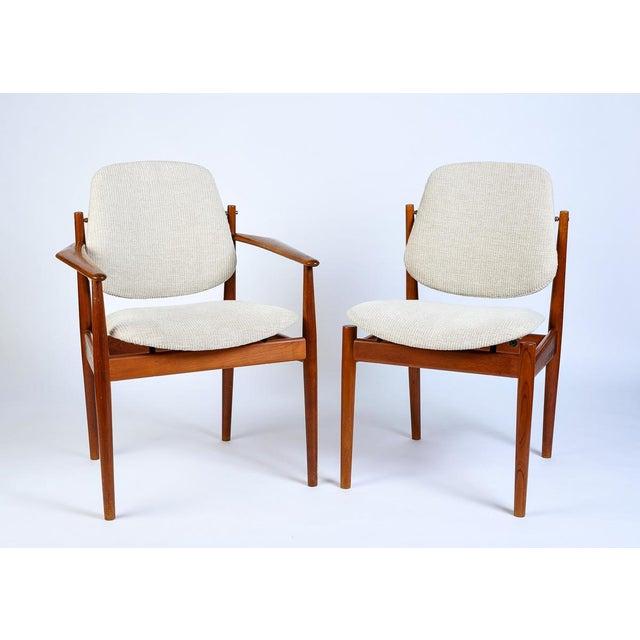 Arne Vodder Danish Modern Arne Vodder Arm Chair - Matched Pair For Sale - Image 4 of 5