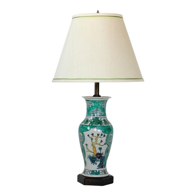 Hand Painted Table Lamp by Frederick Cooper For Sale