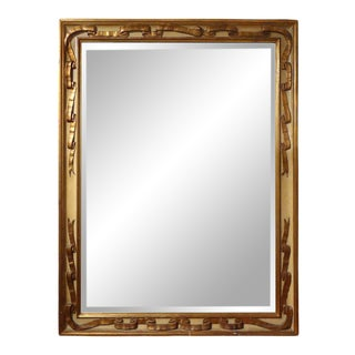 1920's Italian Neoclassical Style Painted and Gilt Wood Mirror For Sale