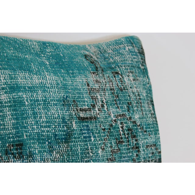 Turquoise Overdyed Pillow Covers - A Pair - Image 4 of 6