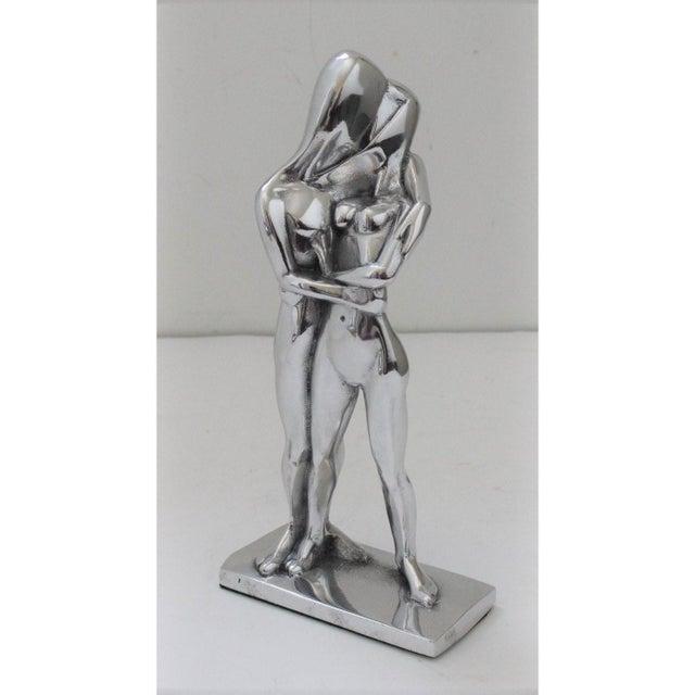 "Vintage Christian Petersen ""Lovers"" Sculpture Cast Aluminum For Sale - Image 11 of 11"