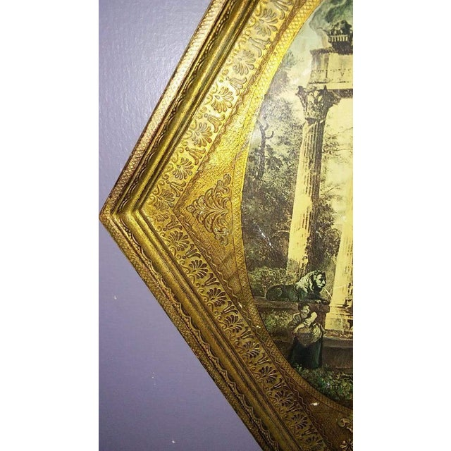 Vintage Italian Florentine Wood Tole Wall Hanging - Image 6 of 7