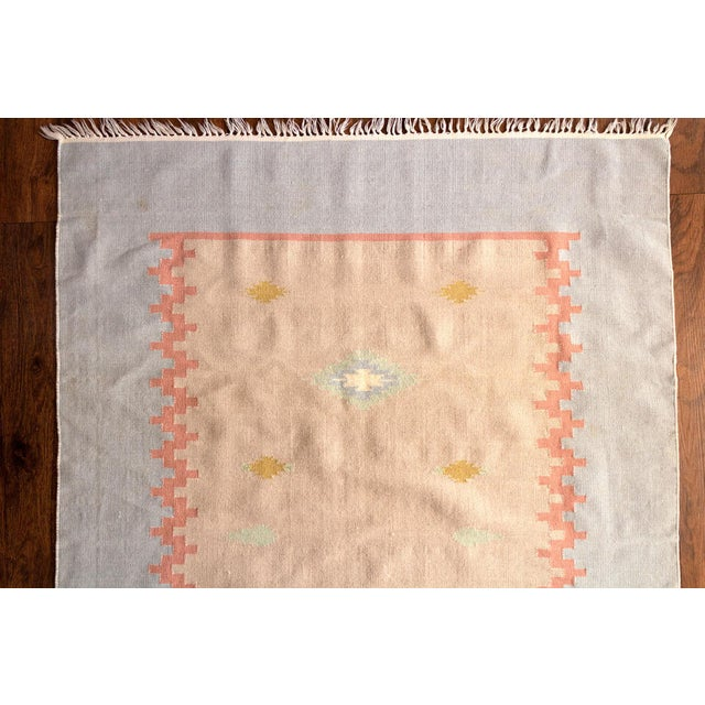 Boho Chic Vintage Mid-Century Navajo Inspired Pastel Rug - 3′8″ × 5′11″ For Sale - Image 3 of 11
