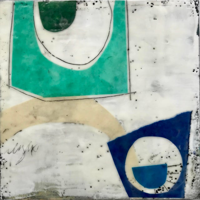 """2010s """"Perceptions No. 11"""" Original Encaustic Collage Painting by Gina Cochran For Sale - Image 5 of 5"""