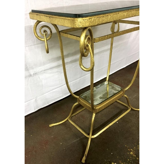 Art Deco Sue Et Mare Refined Pair of 2 Tier Console For Sale - Image 3 of 8