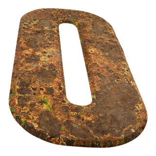 "Metal Letter Number ""O"" For Sale"
