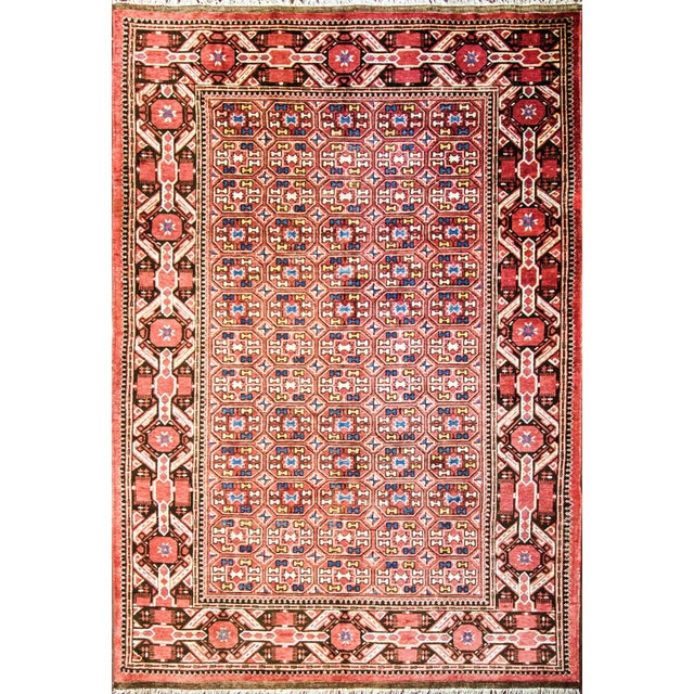 Antique Unusual Turkoman Bashir Main Rug- 6′10″ × 9′10″ For Sale - Image 4 of 4