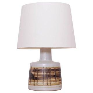 Stoneware Table Lamp, Gordon Martz, Marshall Studios Inc. N° 105 Brown & White For Sale