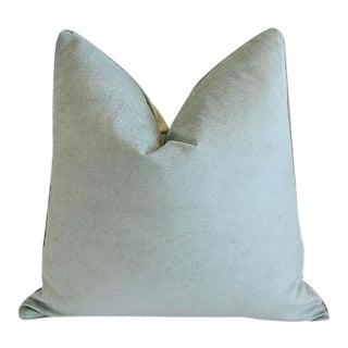 "24"" Custom Tailored Ocean Sea Mist Velvet Feather/Down Pillow"