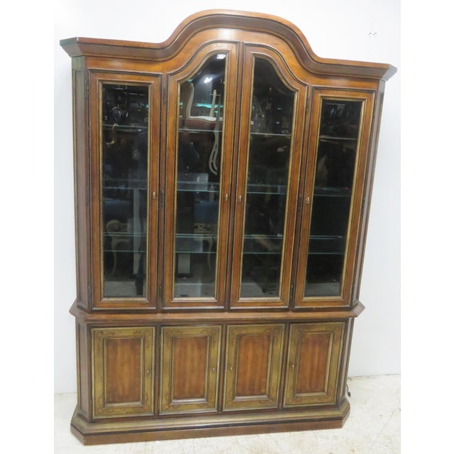 Drexel Heritage Paint Decorated China Cabinet - Image 11 of 11