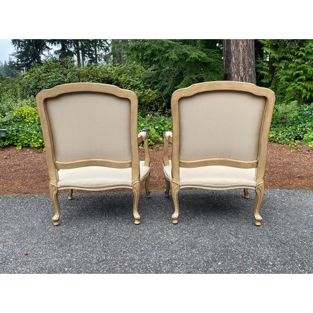 Wood Harris Marcus Home Italian Bergere Chairs - a Pair For Sale - Image 7 of 13