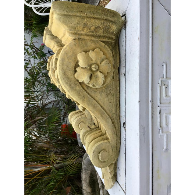 Traditional French Limestone Wall Brackets - a Pair For Sale - Image 3 of 6