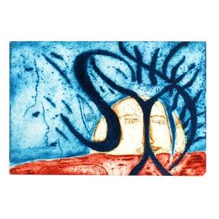 Lidoyne, Abstract Aquatint Etching - Testigos For Sale