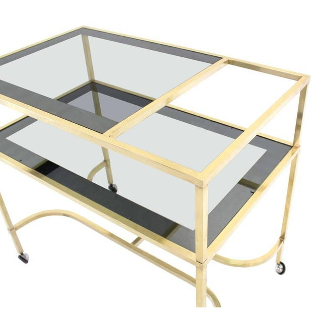 Early 20th Century Nice Solid Brass Profile Serving Cart For Sale - Image 5 of 10