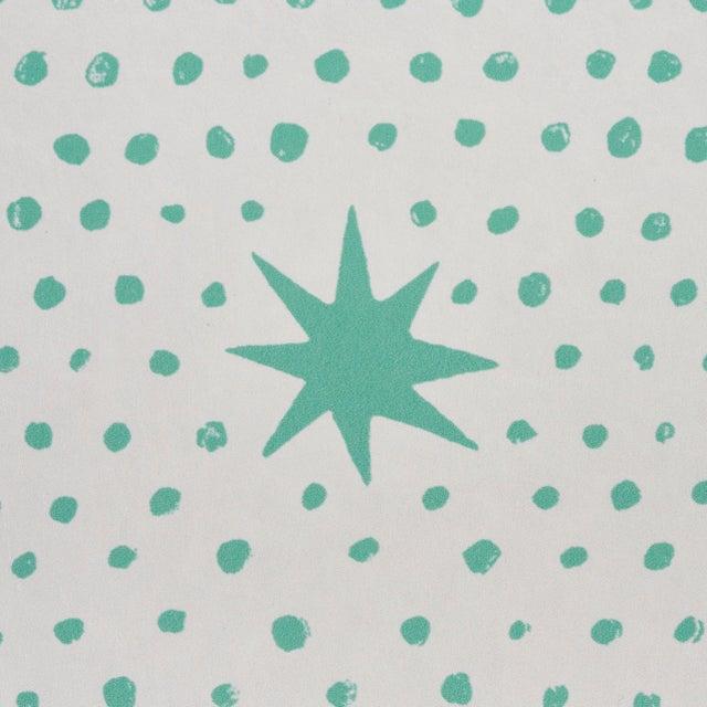 Schumacher Sample - Schumacher x Molly Mahon Spot & Star Wallpaper in Seaglass For Sale - Image 4 of 6