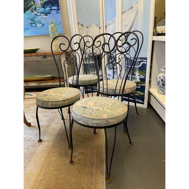 These are a gorgeous set of 4 garden chairs. Originally from the 1950s, each chair has a beautiful vintage chinoiserie...