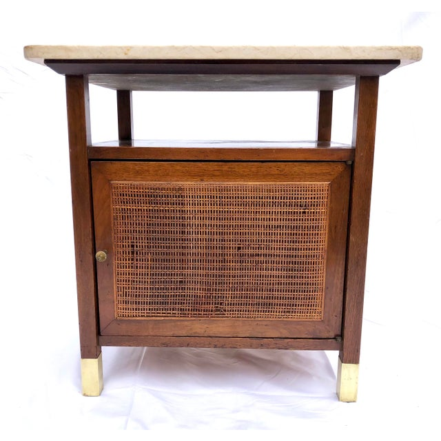 Art Deco Mid-Century Modern Paul McCobb Manner Walnut Side Table For Sale - Image 3 of 11