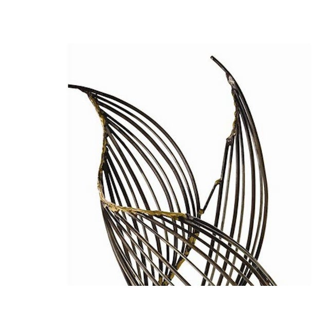 Abstract Mid-Century Winged Metal Sculpture - Image 3 of 3
