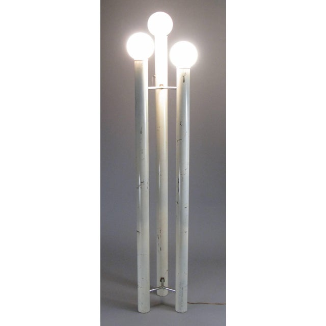 A 1970s three tower floor lamp designed by Tony Paul for Mutual Sunset, from his Bellini collection. in as found condition...
