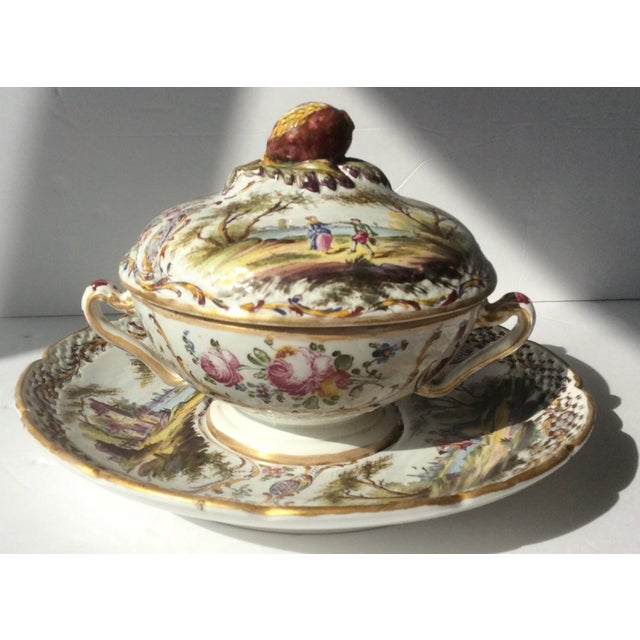 Antique French Faience Serving Dishes - 3 Piece Set For Sale - Image 10 of 10