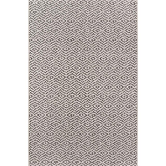 """Erin Gates Downeast Wells Charcoal Machine Made Polypropylene Area Rug 2'7"""" X 7'6"""" For Sale"""