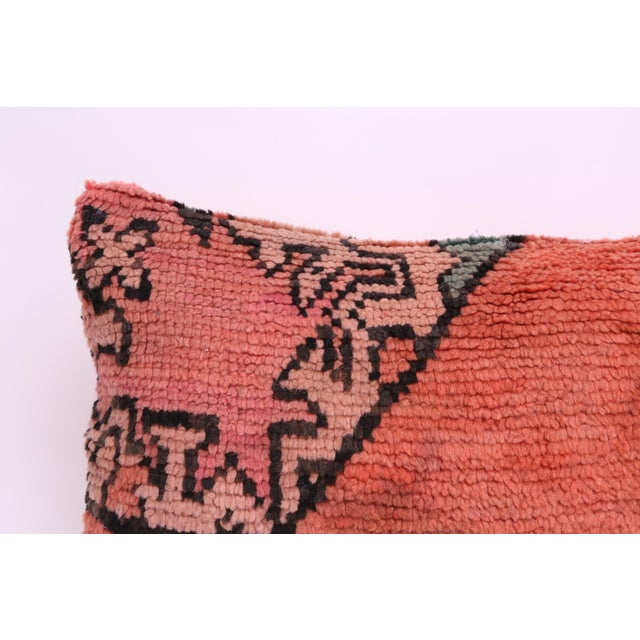 Vintage Moroccan Rug Lumbar Pillow Cover - Image 3 of 4