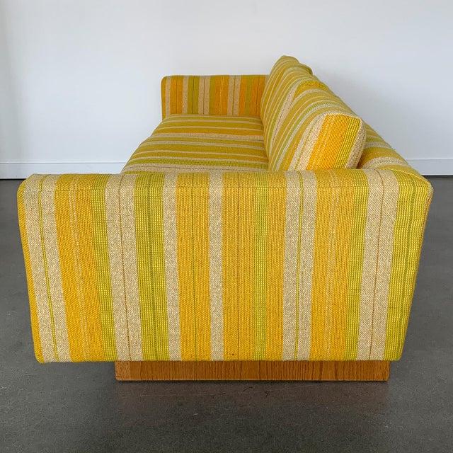 Harvey Probber Harvey Probber Tuxedo Sofa With Oak Legs For Sale - Image 4 of 13