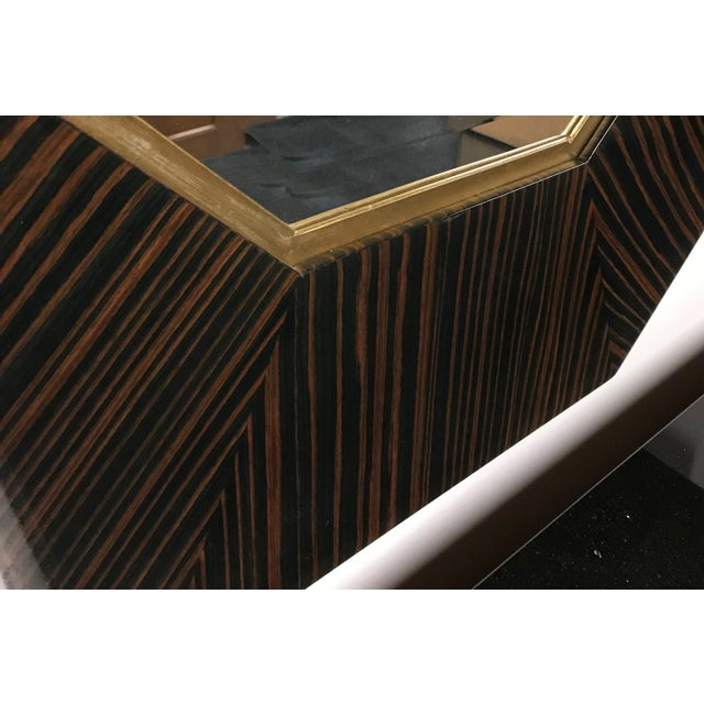French Art Deco Macassar Ebony Mirror For Sale In New York - Image 6 of 6