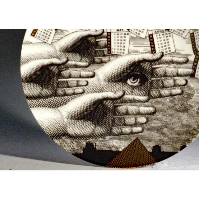 Barnaba Fornasetti Porcelain Calendar Plate 2015. Number 150 of 700 made. - Image 2 of 4