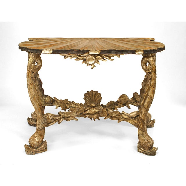 Metal Venetian Grotto Style Console Table, Attrib: Pauly Et Cie, Venice For Sale - Image 7 of 7