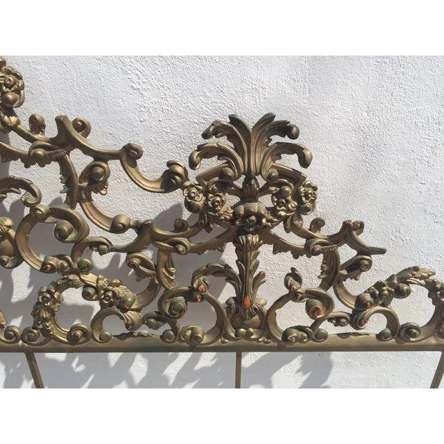 Baroque-Style Metal King Headboard - Image 3 of 6
