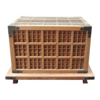 19th C Japanese Pine Ceremonial Saki Box For Sale