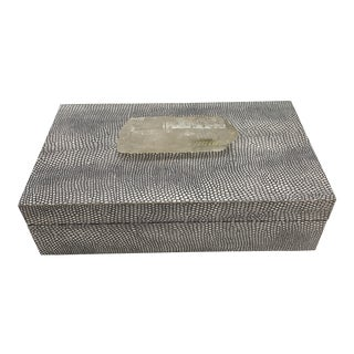 Faux Snakeskin Print Box With Crystal Top For Sale