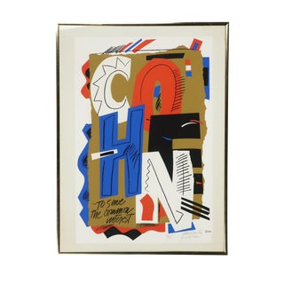 "Framed ""Cohen"" Serigraph by Sam Maitin For Sale"