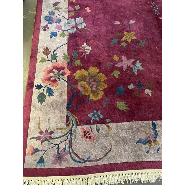 """Chinese Art Deco Rug 139"""" X 107"""" For Sale - Image 4 of 10"""