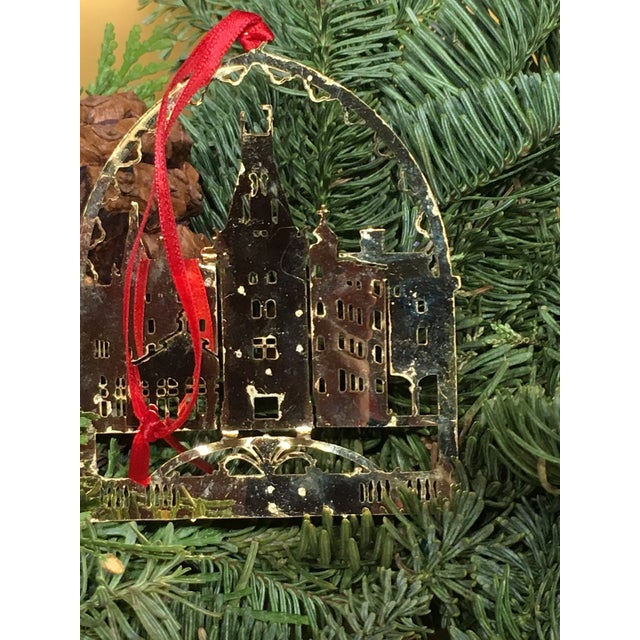 Gold Biltmore Estate Christmas Tree Ornament For Sale - Image 8 of 9