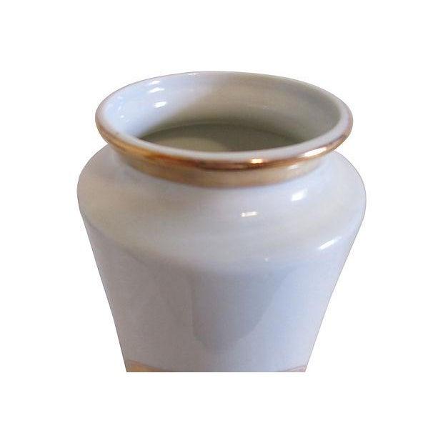 Midcentury 24k Japanese Chokin Porcelain Vase - Image 5 of 5