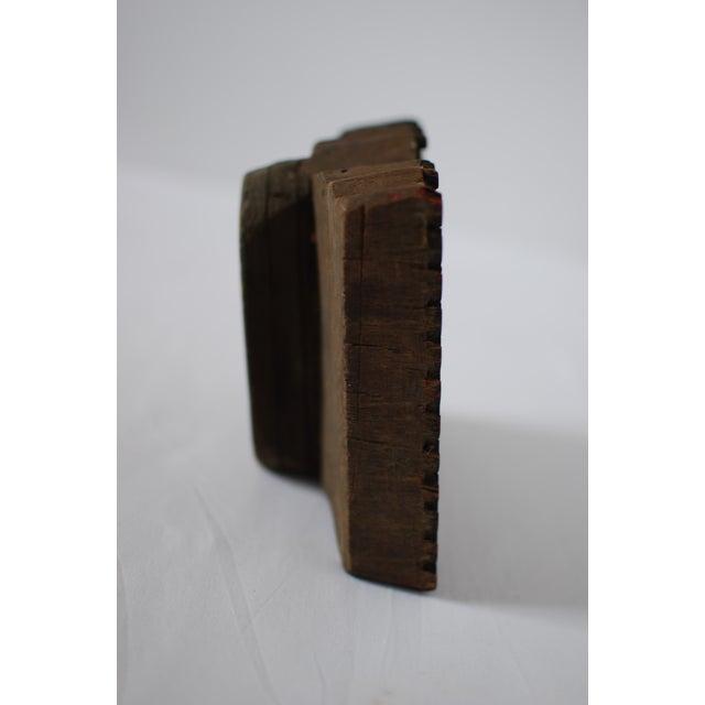 Vintage Wood Print Block - Image 4 of 5
