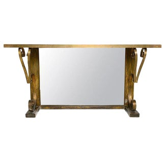 Arturo Pani Brass Console For Sale