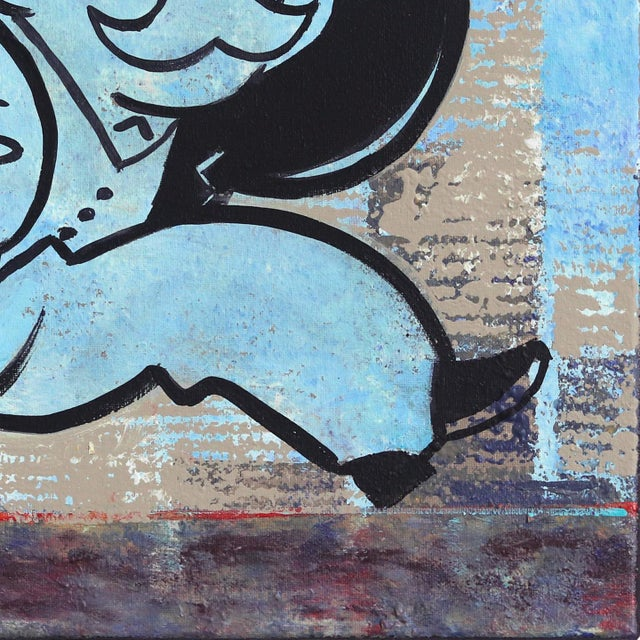 """2010s """"Take the Money and Run Fast"""" Original Artwork by Kathleen Keifer For Sale - Image 5 of 9"""