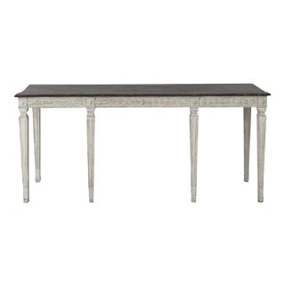 19th Century Swedish Late Gustavian Console Table With Hand Painted Porphyry Top For Sale