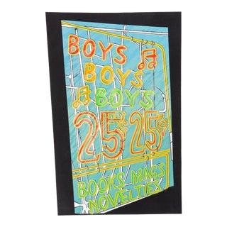 "Cindy Wolsfeld, ""Boys, Boys, Boys"", Pop Art Text Screenprint For Sale"