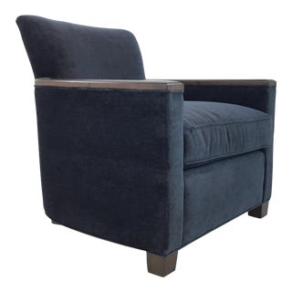 Pearson Co. 646 Modern Navy Velvet Club Chair For Sale