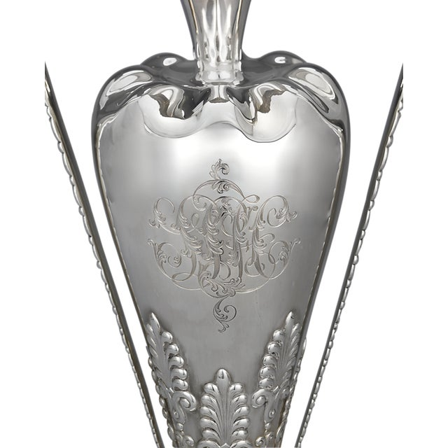Tiffany and Co. Tiffany & Co. Sterling Silver Art Nouveau Vase For Sale - Image 4 of 6