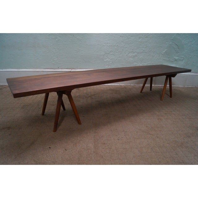 Studio Made Solid Walnut Long Low Table/Bench - Image 2 of 10
