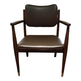 Mid-Century Brown Gregson Office Chair