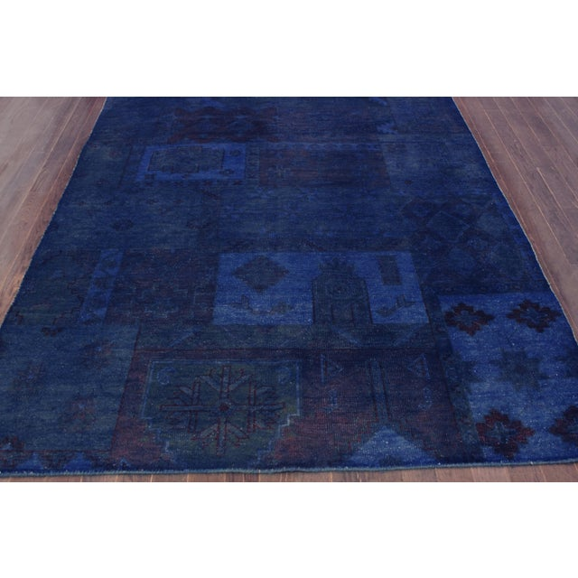 "Vintage Blue Over-Dyed Rug - 5'5"" X 8'5"" - Image 2 of 3"