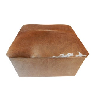 LG Cow Hide & Faux Leather Ottoman